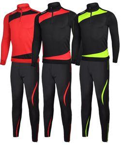 Nuovi uomini Sport Running Football Set Long Jacket Pants Suit Kids Soccer Training Skinny Leg Pants Tute Sportswear