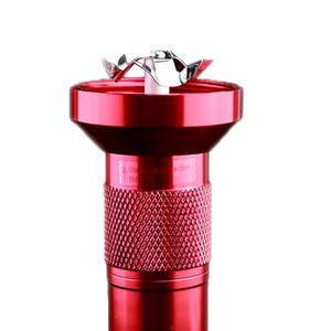 Aluminum Torch Forma elétrica Tobacco Herb Grinder Crusher Handle Machines inoxidável Tobacco metal com caixa retal transporte da gota