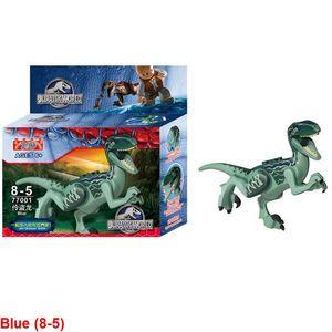 1pc blau (8-5) Jurassic Building Blocks Park Dinosaurier Spielzeug