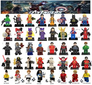 minifigures superhéroes Los Vengadores Ironman Deadpool Logan Superman Batman Copa Mundial Messi Neymar Ronaldo mini figuras Building Blocks