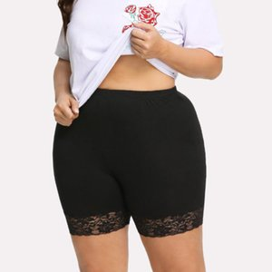 Women Girl Hot Leggings Lady Sexy Lace Safe Seamless Short Leggings Black