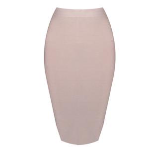 DEIVE TEGER Wholesale pencil skirt New Bandage Skirt Women Knee-Length Skirts 15 Colors 60cm HL1186 D1891705