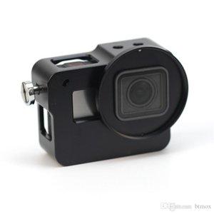Nuevo Alloy hero 5 jaula Caja protectora Carcasa a prueba de golpes Carcasa metálica con tapa para cámara GoP Hero 5 Negro