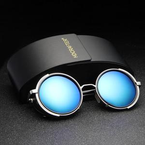 2017 Новый HDCRAFTER панк ретро мужской Vintage раунд Солнцезащитные очки мужчин женщин солнцезащитные очки Gafas Feminino