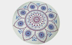 Imprimé rond en daim yoga déesse pad en caoutchouc mode fleur mat tapis support pad usine