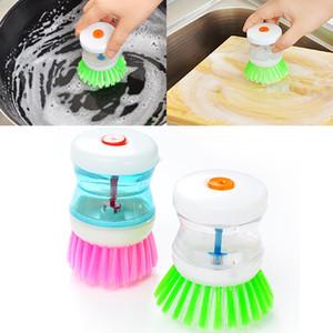Новые щетки творческий автоматический гидравлический горшок щетка для хранения жидкости Кубок кухня котел пластиковые щетки для очистки кухня инструмент WX9-277