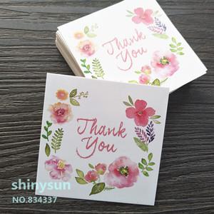 "50pcs lot MINI card ""thank you"" Small card Gift decoration Writable 6x6cm"