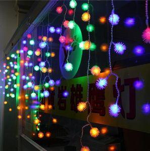 멀티 컬러 4m 100 LED 눈덩이 에델바이스 커튼 문자열 크리스마스 조명 웨딩 파티 휴일 정원 장식
