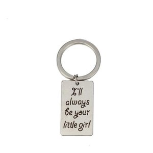 Modeschmuck Accessories feine Mens Keychain Tags Anhänger Schlüsselanhänger Keyring Ich werde immer dein kleines Mädchen / Junge / Held sein