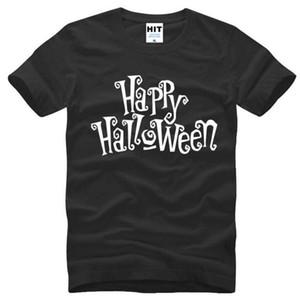 Happy Halloween lettera stampata T Shirt uomo Estate Style manica corta O-Collo Cotone uomo T Shirt Casual Top Tee Camisetas Hombre