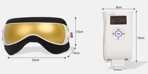 ABS Gustala New Air Massager Eye pressão com MP3 6 funções Dispel olho sacos Eye Magnetic Far Infrared Cuidados Aquecimento