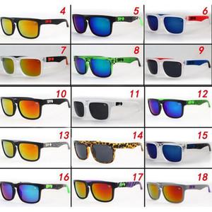 Vente en gros Lunettes de soleil réfléchissantes colorées Lunettes de soleil multicolores colorées Personnalité Sports SPY Lunettes de soleil Sports de plein air Cyclisme Sun Glasse