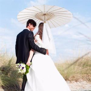 Parasols de mariage blanc parapluies en papier blanc parapluie mini artisanat chinois diamètre 20/30/40 / 60cm parapluies de mariage pour la vente en gros