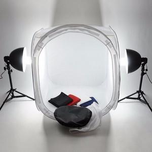 Freeshipping Studio Lightbox Pro Fotoğraf Ekipmanları Katlanabilir 50 cm Pop Up Fotoğraf Stüdyosu Yumuşak Kutu Işık Softbox Aydınlatma Çadır 4 Arka Planında