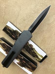 Toptan 2 YENI MODELLERI Plastik saplı otomatik bıçak kamp katlama bıçak katı SIYAH blade yüksekliği kaliteli ücretsiz kargo