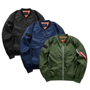mens winter jacket bomber jacket MA1 pilot jackets ma-1 flight BOMBER Jackets Zipper coats mens clothing outwear outdoor jackt S-5XL