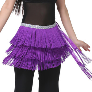 3 Camadas Fringe Lantejoula Oriental Costumes Belly Dance Belt Venda dança das mulheres Hip cachecol Dança do Ventre Acessórios