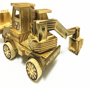 Ahşap ekskavatör model oyuncak