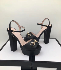 2018 yeni kadın moda sandalet toka ile basit açık parmaklı öğrenci topuklu, kadın yüksek topuklu