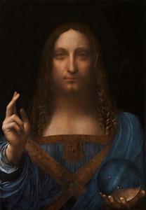 Jesus Cristo da Savi por Leonardo da Vinci pintado à mão HD pintura a óleo Impressão artística multi tamanhos de quadros Opções Hiigh Qualidade Canvas P59