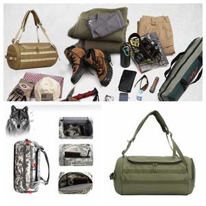 Camouflage Duffel Zylinder Tasche Leinwand Reise Rucksack Rucksack Outdoor Wandern Camping Yoga Gepäck Handtasche DDA728 Windel Taschen