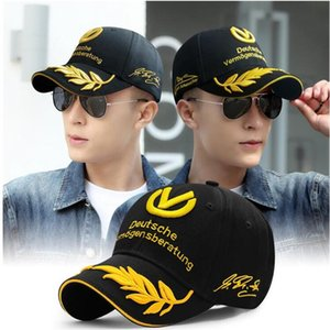 Wholesale-Cap Michael Schumacher Hat Motorcycle Racing Moto Gp Caps Men Baseball Motocross Baseball f1 Caps Snapback Bones Formula 1