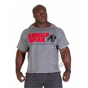 Mens verão Roupas de marca T Shirts dos homens Golds Homens de Fitness Musculação Gorilla Wear Camisa Batwing Manga Rag Tops MMA-1