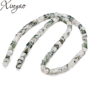 XINYAO 1strand lot 4X5mm Natural Agates Beads Tree Pattern Loose Spacer Beads For Diy Jewelry Making Bracelet Necklace Findings