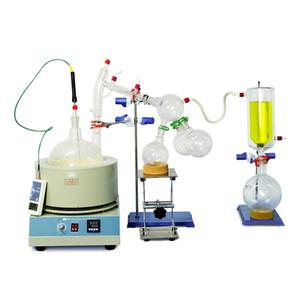ZOIBKD Equipamentos de Laboratório 5000ml / 5L caminho curto Destilação Kit 110V / 220V com armadilha Termômetro Digital / manta de aquecimento / Frio