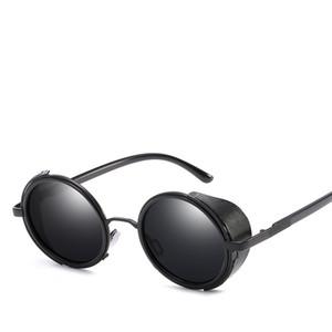 Popular Designer Polarized Occhiali da sole per uomo e donna tendenze uomo retro occhiali da sole rotondi laterali scudi occhiali lenti 400 uv
