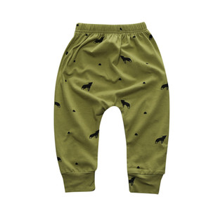 Army green New Arrival Geometric Pattern Baby Cotton Trousers Babys Boys Girls PP Pants Harem Pants For Newborn Girl Boy Clothing CP181