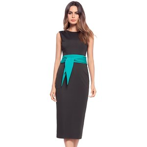 Женская высокое качество горячий стиль элегантный работа Dress bodycon карандаш Dress рукавов Sexy black dress 2 цвета S-XL