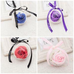 Simülasyon Buket Gül Sabunlar Topu Petal Ev Düğün Süslemeleri Yapay Sabun Çiçek Sevgililer Anne Günü Hediyeleri Için Romantik 3 5dc BZ