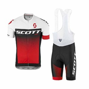 2018 스콧 짧은 소매 사이클링 저지 키트와 3D 젤 패딩 Hombre Mtb 자전거 의류 레이싱 스포츠웨어 빠른 드라이 Ropa Ciclismo 82017Y