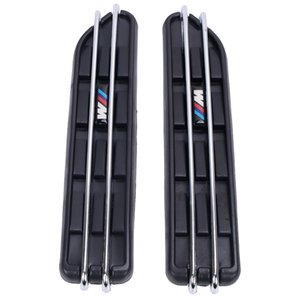 2 pz Air Flow Fender Side Vent Mesh Sticker Griglia per BMW E60 E61 E39 E34 M3 E46 M5 E90 C / 5