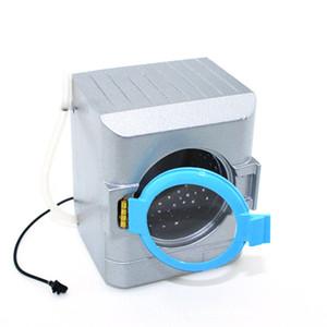 Machine à laver argentée Dollhouse Miniature