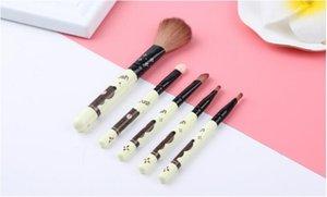 5 unids Pincel de Maquillaje Set Profesional Fundación Eyeliner Polvos Cosméticos Maquillaje Belleza Pinceles Herramientas Cepillo Sombra de ojos envío gratis