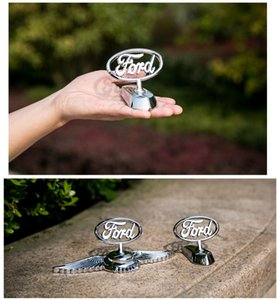 Ford Mondeo focus kuga logo in lega metallica 3d Frond Grill Grille Hood badge con adesivo