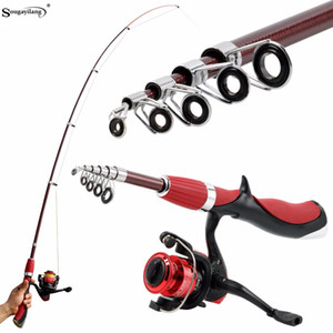 Sougayilang Kohlefaser Tragbare Angelrute Mit Angelrolle Combo Spinning Angelrolle Eisruten Kit Tackle De Pesca