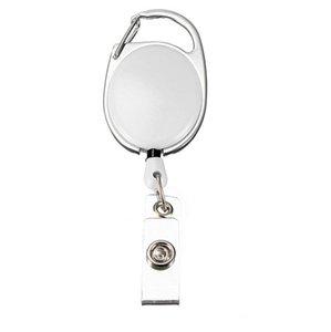 200 unids Retractable Pull Llavero Reel ID de Cadena Nombre de Conector Tarjeta de Etiqueta Titular de la Insignia Reel Recoil Belt Key Ring Clip
