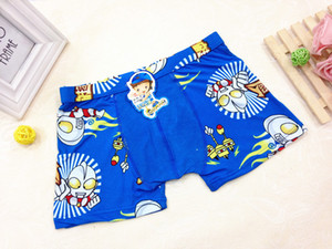 5Colors Boys Bamboo Fiber Ultraman Boxers Cartoon Kids Supermen Underwear Quality Children Modal Cotton Panties Students Underwear 7-12T U1