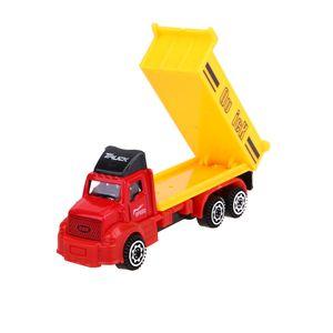 6 unids / set Mini Diecasts Car Alloy Plastic Construction Vehicle Engineering Car Dump Artificial modelo juguetes para Boy Kids regalo