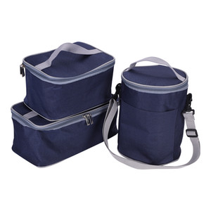 Insulated Lunch Bag, 3 Packs of Bento Lunch Box Tote Picnic Cool Bag Cooler BBQ Food Drinks Carrier Pack Travel School Office Lunch Bag