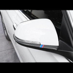 Fibre De Carbone Voiture Style Rétroviseurs Couverture Bandes De Garniture Autocollant Pour BMW 1 2 3 4 Série X1 F20 F30 F31 F34 E84 Accessoires