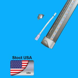 25PCS SMD 2835 T8 V entegre LED ışık tüpü 4 ft = 36W 5 ft = 45 W 6 ft = 52W 8 ft = 72W 85-265V yol tüpler garanti 3 yıl şekilli