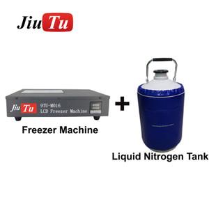 Congelador de nitrógeno líquido + Separador de tanques con bomba incorporada para teléfono celular agrietado Pantalla LCD Touch Glass Separation Repair Machine