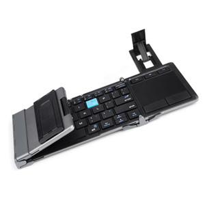 Bluetooth универсальная складная клавиатура Touchpad с подставкой для Hua Wei портативная беспроводная складная клавиатура Touchpad для iPhone планшетов