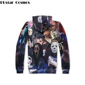 Moda Cool Men Women Hoodies Horror Movie Killers / Halloween Devil Shark Zombie 3D Print Casual Sudadera con capucha Venta caliente