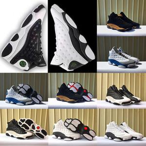высокое качество 13 13s баскетбольная обувь черный кот Hyper Royal olive Высота GS Италия синий серый мужчины женщины 13s спортивные кроссовки обувь 36-47
