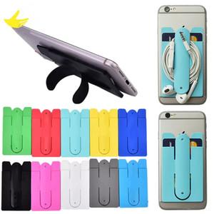 أزياء سيليكون لاصق ملصق الغلاف الخلفي حامل بطاقة الائتمان الحقيبة القضية للحصول على حامل البطاقة الملونة XR فون